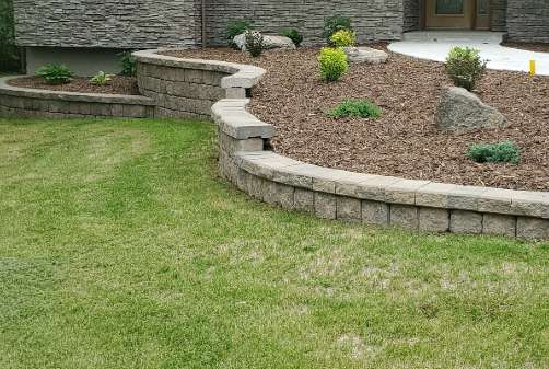 Landscaping Grass with Garden
