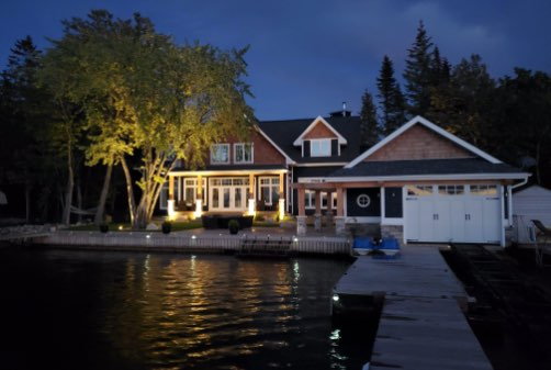 view-of-house-from-dock-night